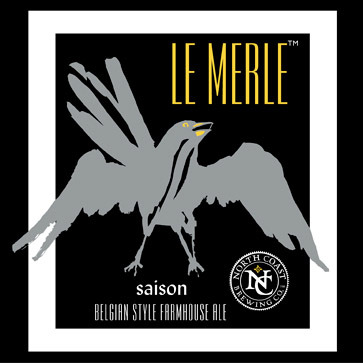 North Coast Le Merle beer Label Full Size