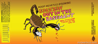Hoof Hearted Spazzin' Out in the Basement beer Label Full Size