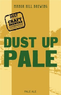 Manor HIll Dust Up beer Label Full Size