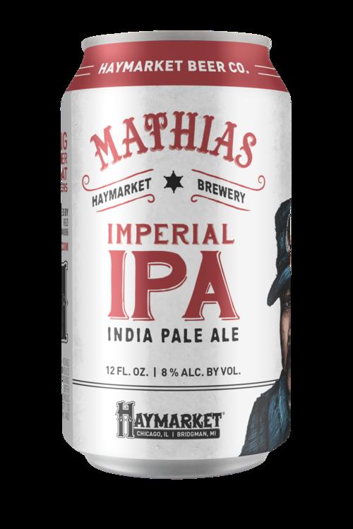 Haymarket Mathias® Imperial I.P.A. beer Label Full Size