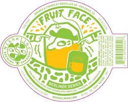 Mikkeller Fruit Face Green Tea, Tangerine, and LemonGrass beer Label Full Size