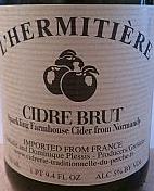 L´Hermitière Cidre Brut beer Label Full Size
