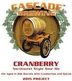 Cascade Cranberry Ale 2015 beer
