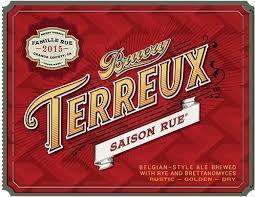 Bruery Terreux Saison beer Label Full Size