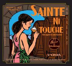 Trois Dames Sainte Ni Touche beer Label Full Size