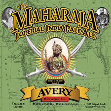 Avery The Maharaja Double IPA beer Label Full Size