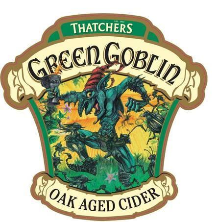 Thatchers Green Goblin beer Label Full Size