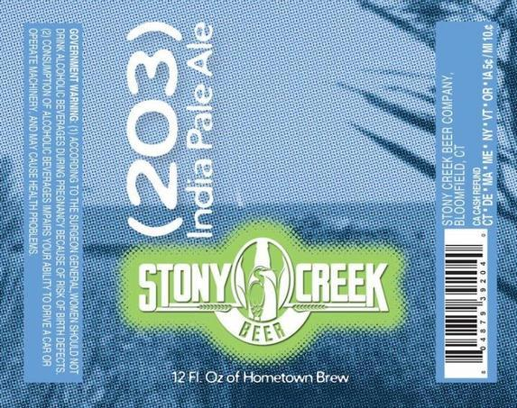 Stony Creek (203) India Pale Ale beer Label Full Size