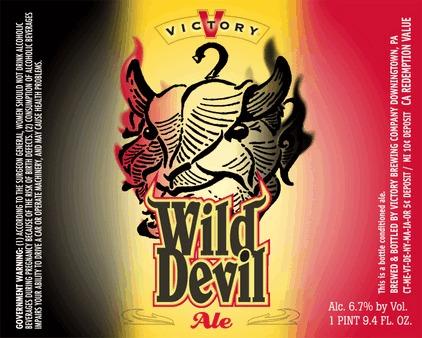 Victory Wild Devil beer Label Full Size