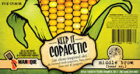 Middle Brow Copacetic Popcorn, Limes & Peppers beer Label Full Size