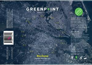 Greenpoint Bio Dome beer Label Full Size
