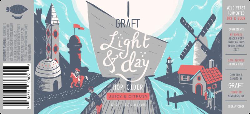 Graft Light & Day beer Label Full Size