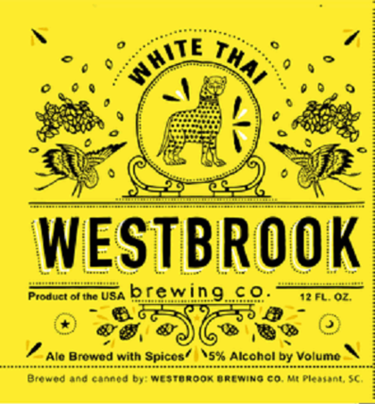 Westbrook White Thai beer Label Full Size