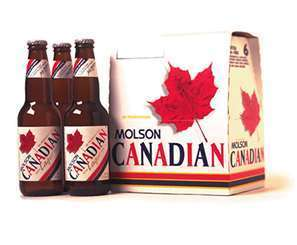 Molson Canadian beer Label Full Size