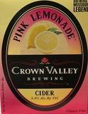 Crown Valley Pink Lemonade Cider beer