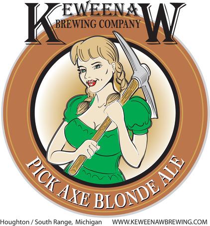 Keweenaw Pick Axe beer Label Full Size
