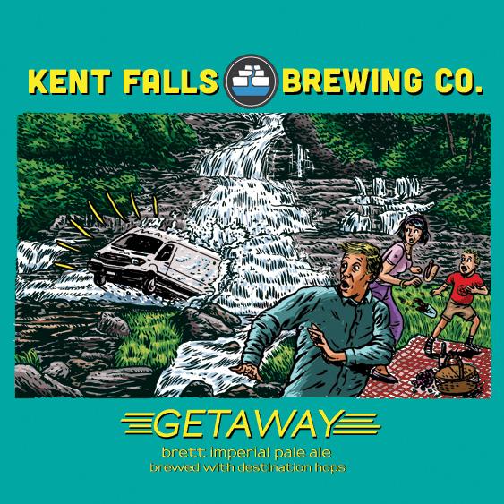 Kent Falls Getaway beer Label Full Size
