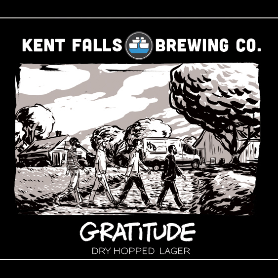 Kent Falls Gratitude beer Label Full Size