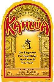 Kahlua Mudslide beer Label Full Size