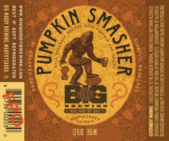 Big Muddy Pumpkin Smasher beer Label Full Size