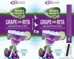 Bud Light Lime Grape-A-Rita beer Label Full Size