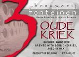 Drie Fonteinen Oude Kriek (oak aged) beer