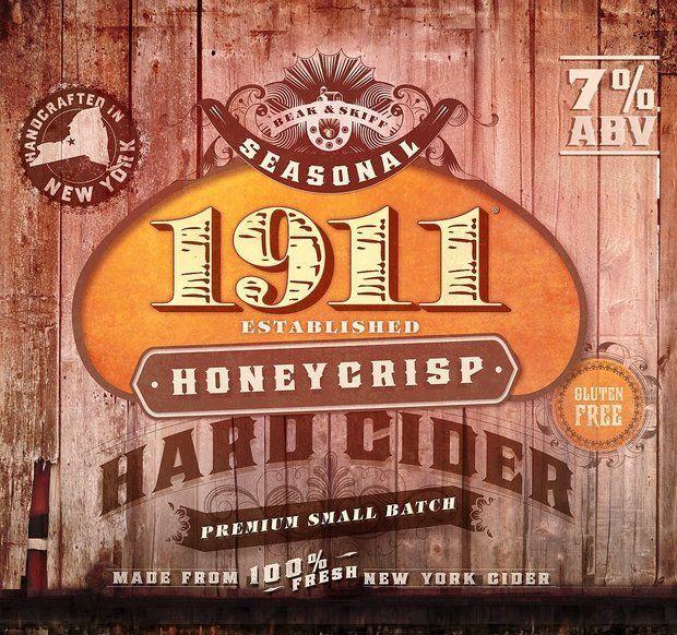 1911 Honey Crisp Hard Cider beer Label Full Size