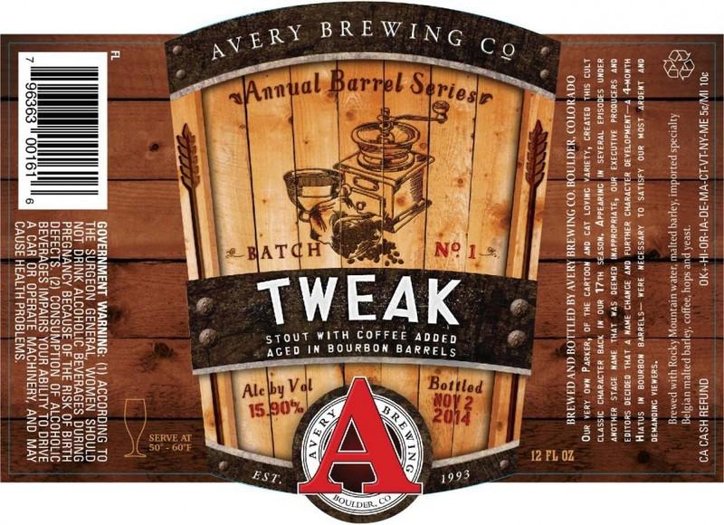 Avery Tweak (Meph Addict) - Bourbon Barrel Beer