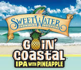 SweetWater Goin' Coastal IPA with Pineapple beer