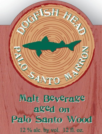 Dogfish Head Palo Santo Marron beer Label Full Size
