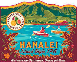 Kona Hanalei Island Style IPA beer Label Full Size