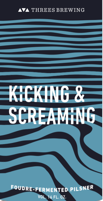 Threes Kicking & Screaming beer Label Full Size