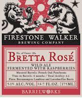 Firestone Walker Barrelworks Bretta Rose beer Label Full Size