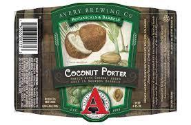 Avery Barrel Aged Coconut Porter beer Label Full Size