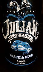 Julian Black & Blue Cider beer Label Full Size