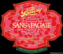 Bruery Sans Pagaie w/ Cherry beer Label Full Size