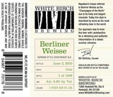 White Birch Berliner Weisse Beer