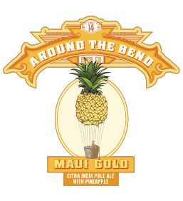 Around the Bend Maui Gold IPA beer Label Full Size
