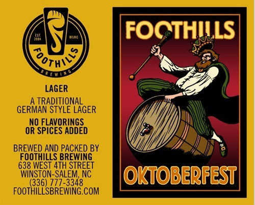 Foothills Oktoberfest beer Label Full Size