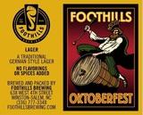 Foothills Oktoberfest beer