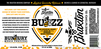 Braxton Buzz beer Label Full Size