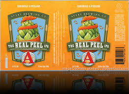 Avery The Real Peel IPA beer Label Full Size