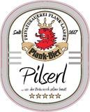 Plank Pilsner beer