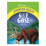 Anderson Valley Gin and Tonic Gose beer Label Full Size