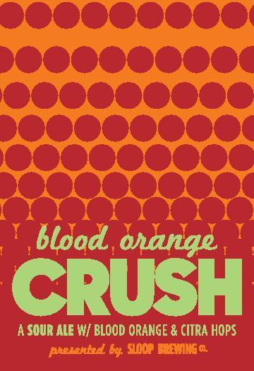 Sloop Blood Orange Crush beer Label Full Size