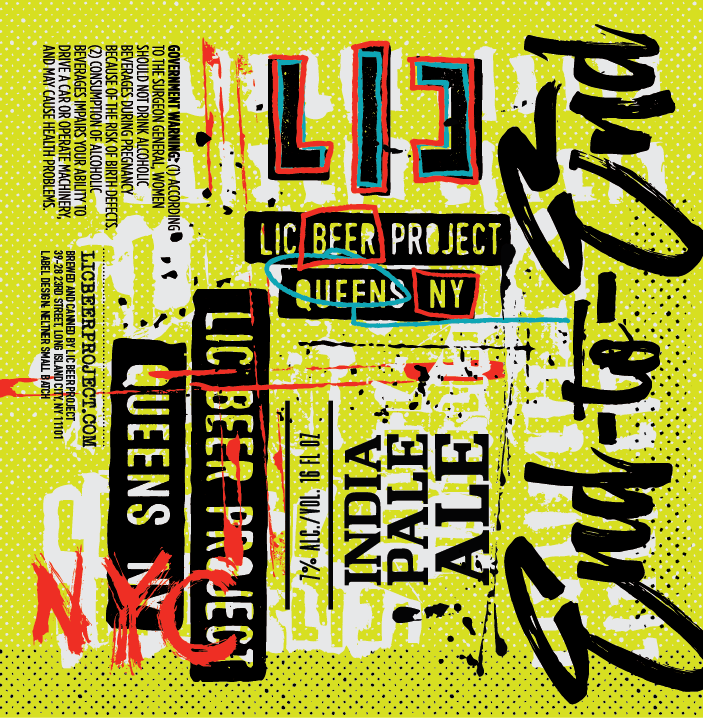 LIC Beer Project End to End beer Label Full Size