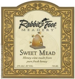 Rabbit's Foot Meadery - Sweet Mead beer Label Full Size
