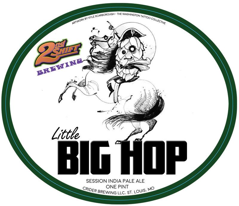 2nd Shift Little Big Hop beer Label Full Size