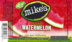 Mike's Harder Watermelon beer Label Full Size