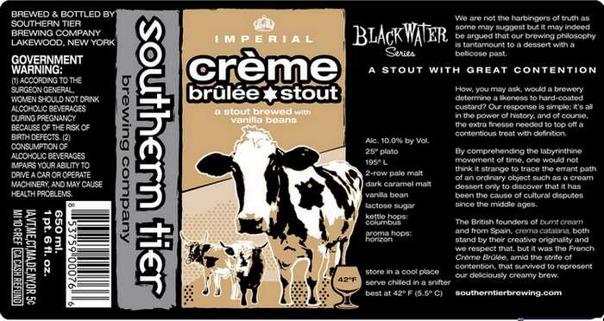Southern Tier Crème Brûlée beer Label Full Size